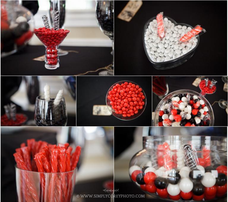 candy bar at a Douglasville wedding