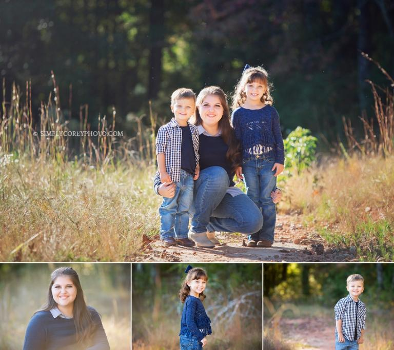 Outdoor photos of siblings by Douglasville family photographer