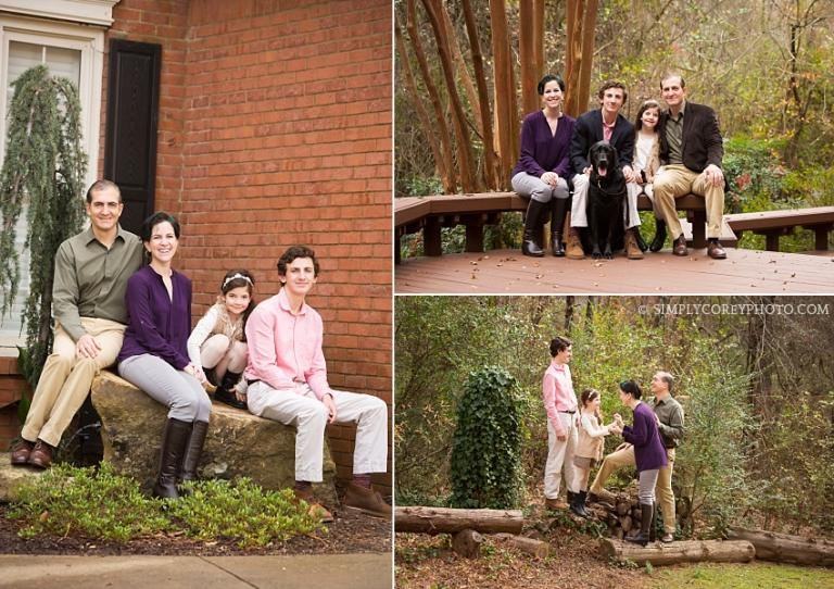 on location session at home by Atlanta family photographer