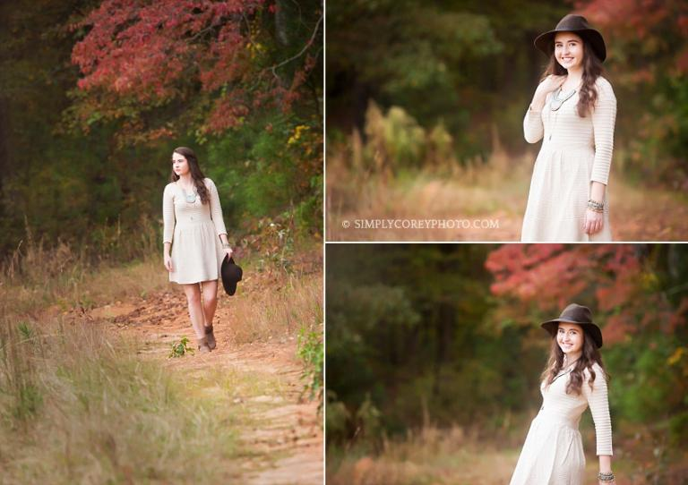 outdoor rustic boho senior portraits by Carrollton senior portrait photographer