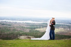 bride and groom, mountain wedding at The Secret Bed an dBreakfast Lodge by Atlanta wedding photographer