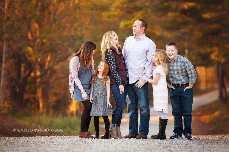 fall family portrait by Atlanta family photographer, Atlanta Fall Mini Sessions
