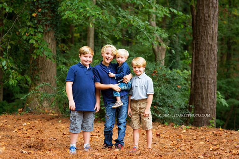 four brothers by Atlanta children's photographer