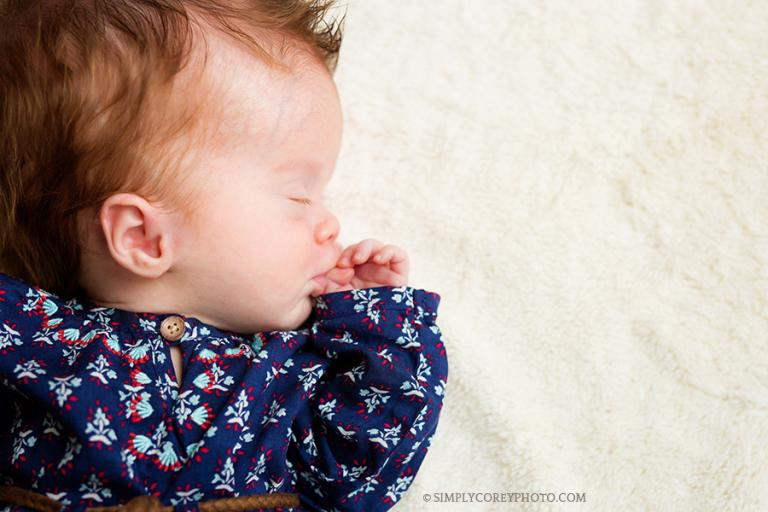 baby girl by Douglasville newborn photographer