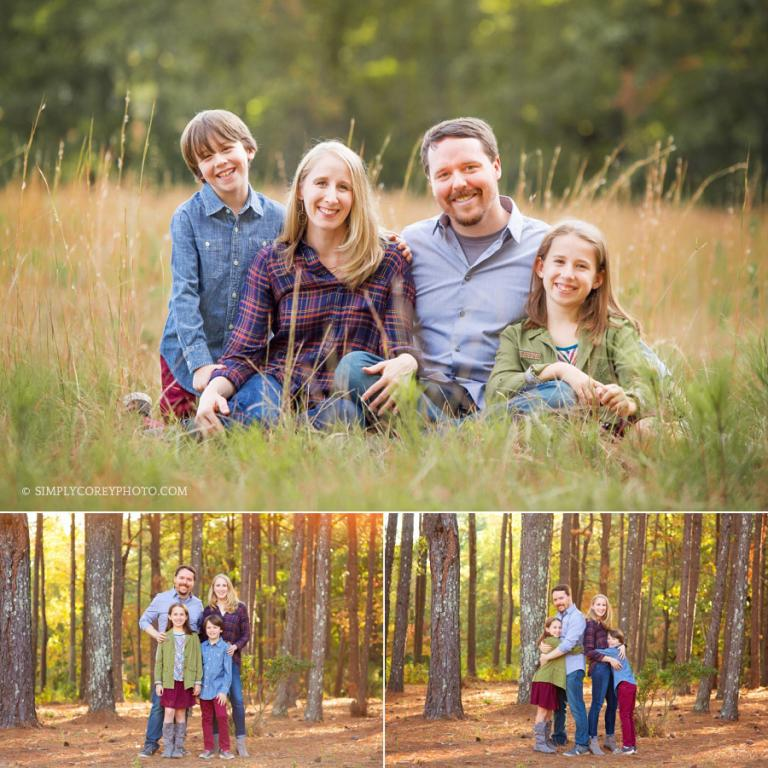 outdoor family portraits by Atlanta family photographer