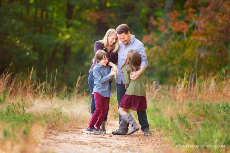 candid outdoor family portrait by Atlanta family photographer