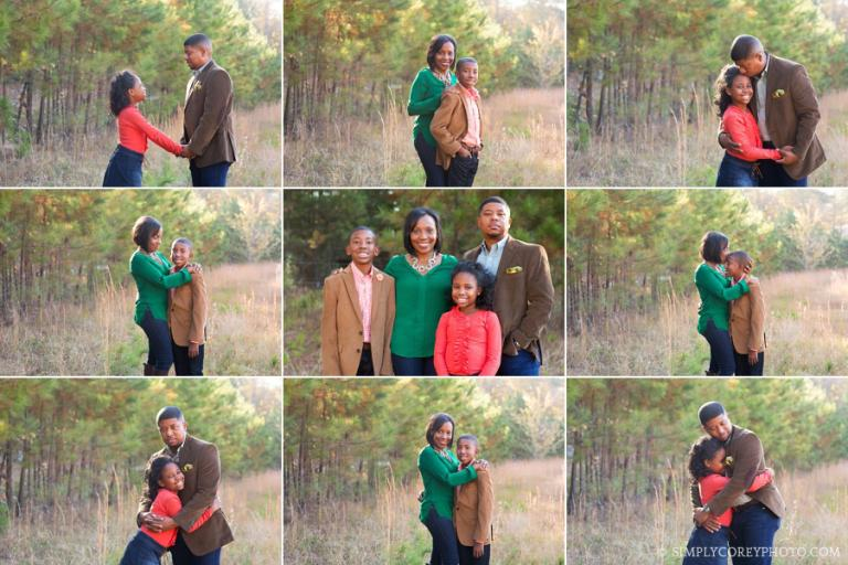 Atlanta family photography in a field with tall grass