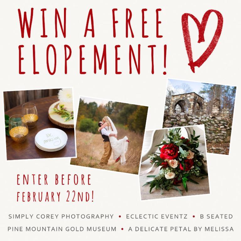 Win A Free Elopement Atlanta Elopement Photography Giveaway