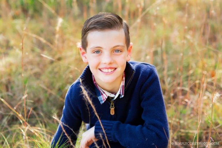 headshot of a boy by Douglasville children's photographer