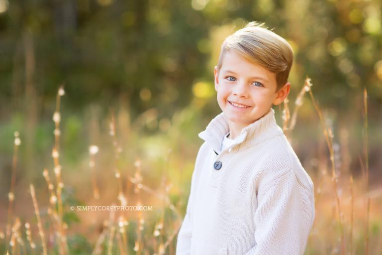 headshot of a boy by Atlanta children's photographer