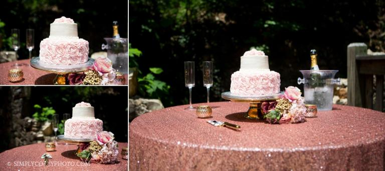 Publix wedding cake, Atlanta elopement photographer