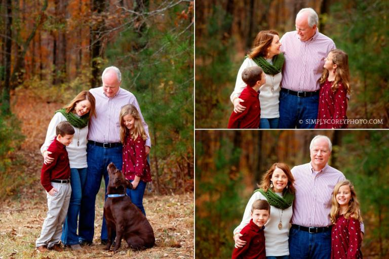 Bremen family photographer, fall portraits with kids and a Labrador Retriever