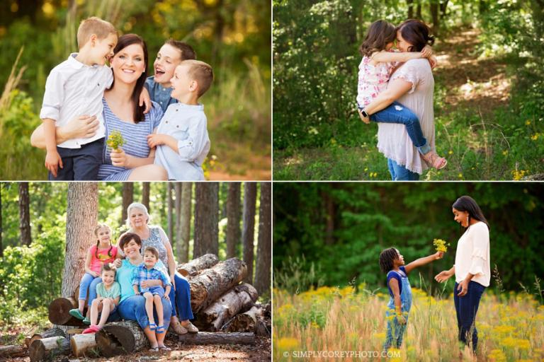 Atlanta Mommy and Me Mini Sessions held outside in the country