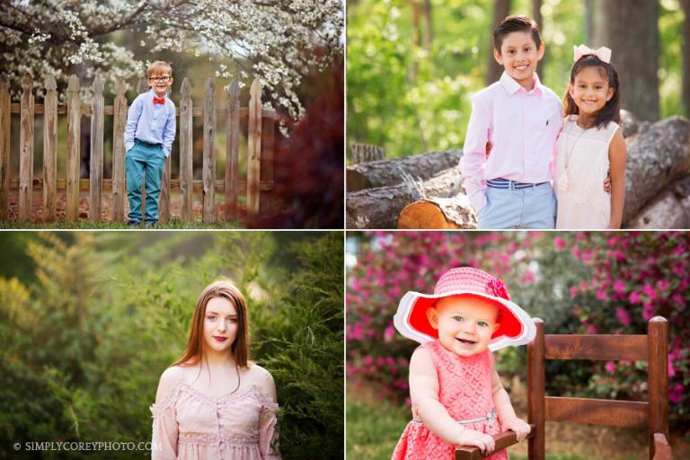 Atlanta spring mini sessions held outside in country for 2019