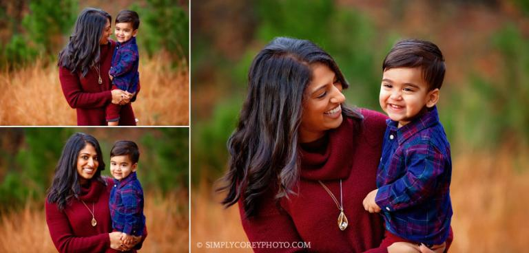 Carrollton mommy and me photographer, outdoor fall photos with toddler