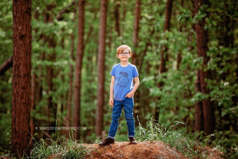 Douglasville child model photographer, outdoor commercial shoot for a shirt
