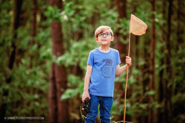 Newnan children's photographer, commercial photography session outside