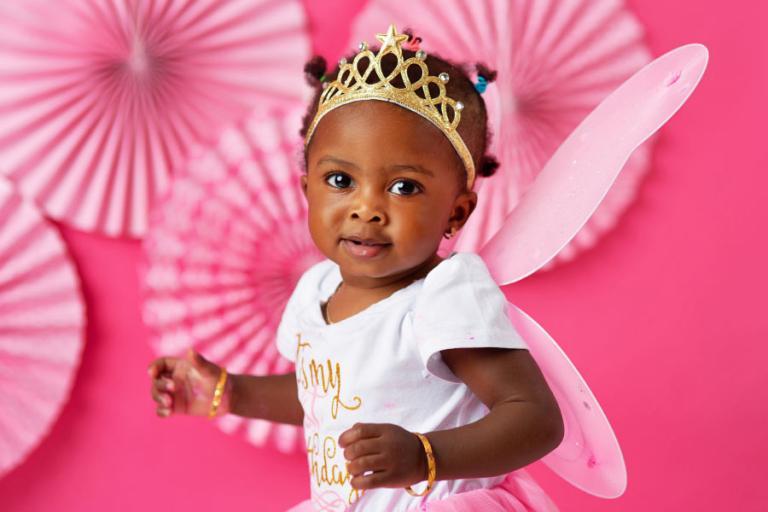 baby photographer Douglasville, pink cake smash session