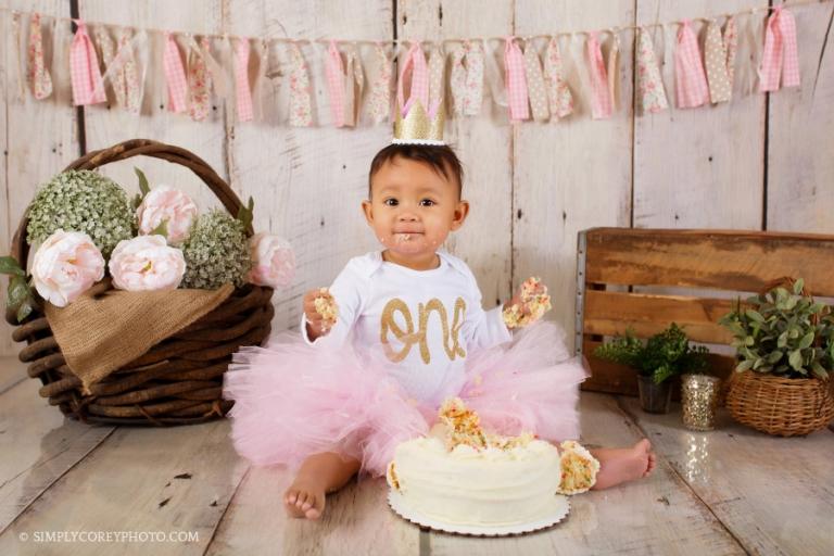 cake smash Atlanta baby photographer