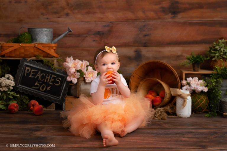 Atlanta baby photographer, one year session studio