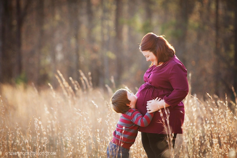 Atlanta maternity photographer, outside session