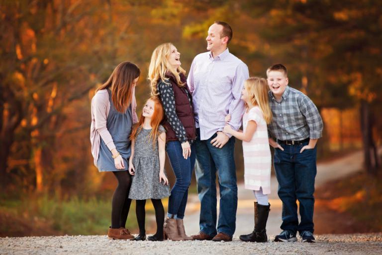 Atlanta family photographer, large family fall portrait