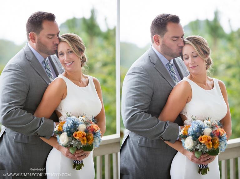 bride and groom by Atlanta wedding photographer
