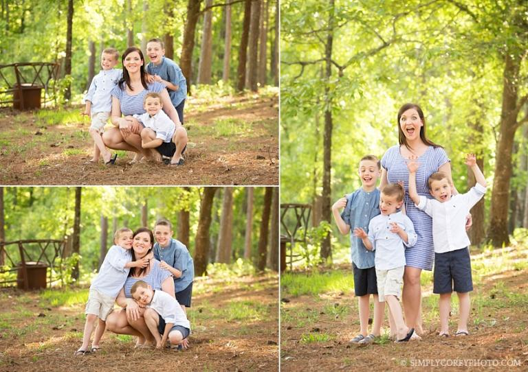 Mom and her boys by Douglasville family photographer