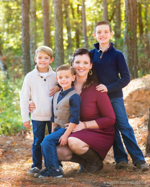 Boy Mom outside by Douglasville family photographer