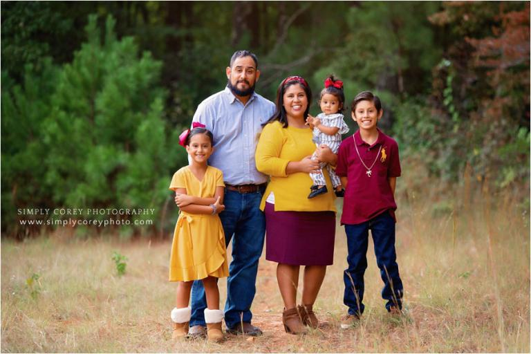 Bremen family photographer, fall mini session with 3 kids