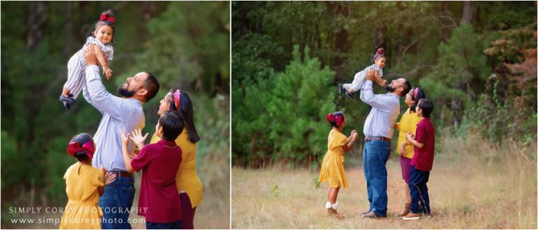 Douglasville family photographer, candid outdoor photos
