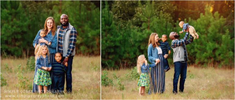 Villa Rica family photographer, fall mini session with family of five
